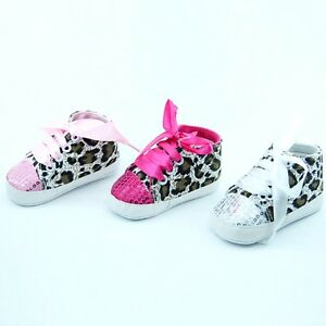 Leopard Baby Infant Kids Girl Soft Sole Crib Toddler Newborn Shoes 0-18 months