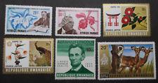 Rwanda 6 different stamps MH