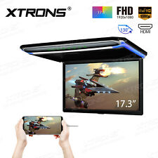 17.3'' Screen HDMI Flip Down Roof Mount Monitor Overhead TFT LCD Car USB Player