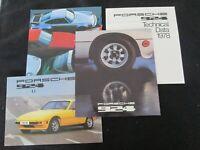 1978 Porsche 924 Big Brochure, Spec Folder, Range  & 1977 924 Sales Catalog Pk