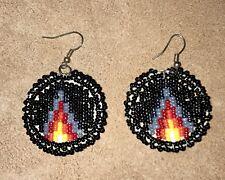 Native American Lakota Sioux Beaded Earrings.