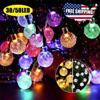 50/30 Led Solar LED String Outdoor Light Garden Patio Yard Party Christmas Lamp