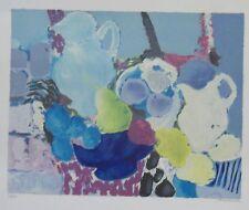Denise Bourdouxhe lithographie Le Pichet bleu expressionnisme p 640