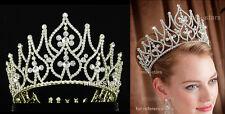 Braut Festzug Gold Schönheitswettbewerb Diadem Krone Benutzen Kristall T1758