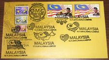 PSM 2 9 cancels including Times Square Stamp Week 2013 Malaysia First Day Cover