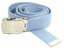 """WN40 - ALL COLORS, 1.25"""" CANVAS MILITARY STYLE BELT, ONE SIZE UP TO 52"""" WAIST"""