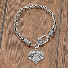 Diabetic Alert Heart Charm Bracelet Medical Jewelry Birthday Gift Free Shipping