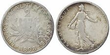 FRANCIA 2 FRANCHI ARGENTO 1898 #4853