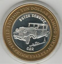 2001 Primm Valley Dutch Schultz Car & Machine Gun .999 Fine Silver $10 Token