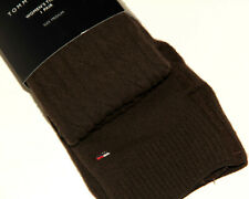 TOMMY HILFIGER RIBBED BROWN COTTON TIGHTS x1  size M BNWT