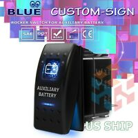 Details about  /Blue Laser Etched LED Awning 12V 20A 10A 5-pin Rocker Toggle Switch Car Boat
