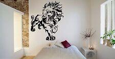Wall Room Decor Art Vinyl Sticker Mural Decal Tribal Animal Lion Leo King FI535