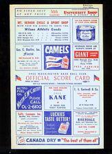 *1953 (Aug. 23) Washington Nationals baseball program v Boston Ted Williams HR