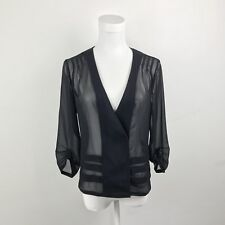 Urban Outfitters Silence & Noise Womens Sheer Chiffon Black Cardigan Size Small