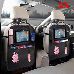 2 Stk Rückenlehnenschutz Auto Rücksitz Organizer für Kinder Kick-Matten-Schutz