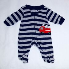 Sweet! Child of mine Preemie boy gray & stripped dark blue  Footed sleep n play