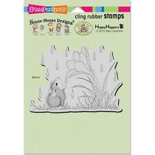 New Stampendous RUBBER STAMP cling House Mouse CROCUS DROPLET free us ship