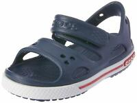 Crocs Kid's Boys and Girls Crocband II Sandal | Pre School, Navy/White, Size 6.0