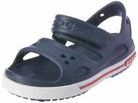 Crocs Kid's Boys and Girls Crocband II Sandal   Pre School, Navy/White, Size 6.0