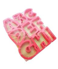 JELL-O Jigglers Alphabet Molds ABC Shape for Jello Cookie Craft Clay Cutters