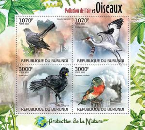Birds & Air Pollution Nature protection m/s Burundi Sc.1122 MNH #BUR12409a