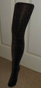 1x Pair Of Girls Black Fine Glitter Sparkly Tights Fancy Party Dance YOU CHOOSE