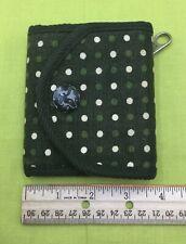 Women's American Eagle Green & White Polka Dot Trifold Wallet Pre-owned