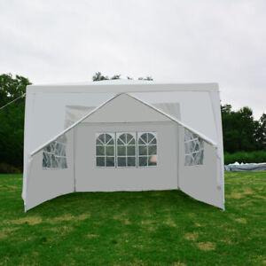 Pavillon 3x4m Wasserdicht Gartenzelt Faltpavillon Partyzelt Zelt mit Fenstern DE