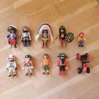 Playmobil Figure Bundle (Pirates, Viking, Native American, Samurai)