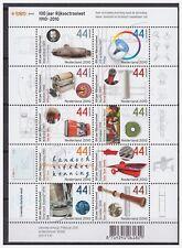 Netherlands 2010 100 Year patent law submarine telescope MNH sheet