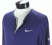NIKE Kobe Bryant Thermal Henley Shirt L/S Top Purple Signature/Logo Mens L RARE