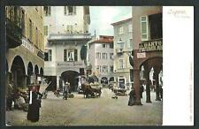 Lugano ( Svizzera ) : Via Nassa  - cartolina non viaggiata, circa primi '900