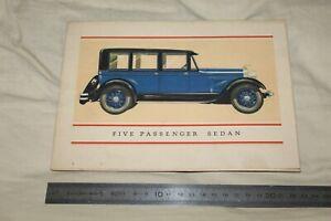 (MB2/E) Brochure Catalogue LINCOLN Five passenger Sedan 1927 or 1928?