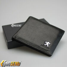 Peugeot Bifold Men Wallet Black Genuine Leather with 3 Credit Card & ID Window
