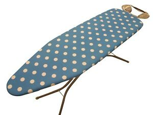 Spotty Teal  Tie-On ironing board cover,Easy Fit, Thick Foam Backing *3 sizes*