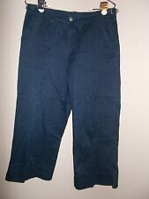 Liz Clairborne Womens Size 8 Solid Navy Blue Cropped Pants