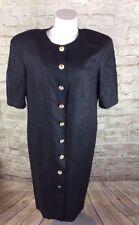 LOUIS FERAUD DRESS BLACK SIZE 14 ViINTAGE