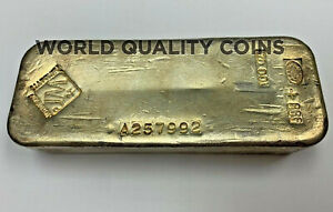 Canada Vintage Silver Bar Johnson Matthey 100 oz .999 Serial Number A