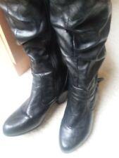 Women Winter High Long Boots Handmade Material Ladies Heels Boot Half Knee Shoes