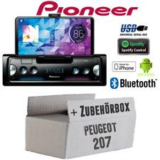 Pioneer Radio für Peugeot 207 Bluetooth Spotify Android iPhone Einbauset PKW KFZ