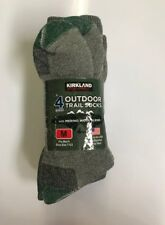 NWT Kirkland Signature Men's 4-Pack Merino Wool Blend Trail Socks - MEDIUM