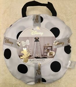 NEW Minnie Mouse Play Canopy One Size Sold out everywhere! Black White Polka dot