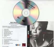 NINA SIMONE A Single Woman 2008 UK 17-track promo test CD