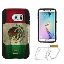 Beyond Cell Shell Case Hyber For Samsung Galaxy S6 Edge S925 Mexican Flag
