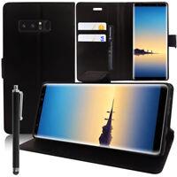 """Etui Coque Housse NOIR Portefeuille Rabat Samsung Galaxy Note 8 6.3"""" + Stylet"""