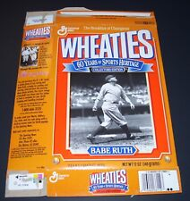 The Breakfast of Champions Wheaties Box BABE RUTH 60 Years of Sports Heritage