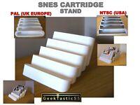 SNES Super Nintendo Cartridge Stand. Snes PAL / NTSC Cartridge holder. Retro