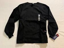 Cherokee Women's Snap Front Warm Up Scrub Jacket Sv3 Black Large Nwt