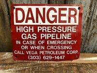 Great Red Danger - High Pressure Gas Pipeline / Vega Petroleum Co
