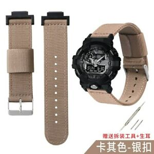 16mm Woven Nylon Band for G-SHOCK GA-110 G-5600 GW-M5610 Watch Strap w Connector